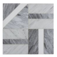 "Liaison Elm Large 16"" x 16"" mosaic in Charcoal Blend"