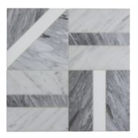 """Liaison Elm Large 16"""" x 16"""" mosaic in Charcoal Blend"""