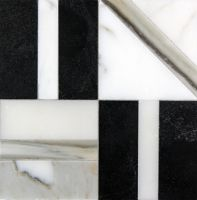 "Liaison Elm Small 8"" x 8"" mosaic in Ebony Blend"