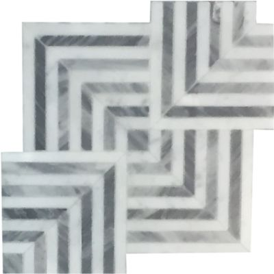 """Liaison Mulholland Large 19.39"""" x 19.39"""" mosaic in Silver Blend"""