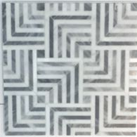 """Liaison Mulholland Small 9.4"""" x 9.4"""" mosaic in Silver Blend"""