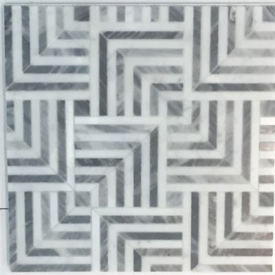 "Liaison Mulholland Small 9.4"" x 9.4"" mosaic in Silver Blend"