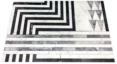 hillcrest in statuary white , grigio carnico, bardiglio nuvelato