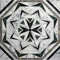 Liaison Laurel mosaic in custom stone blend