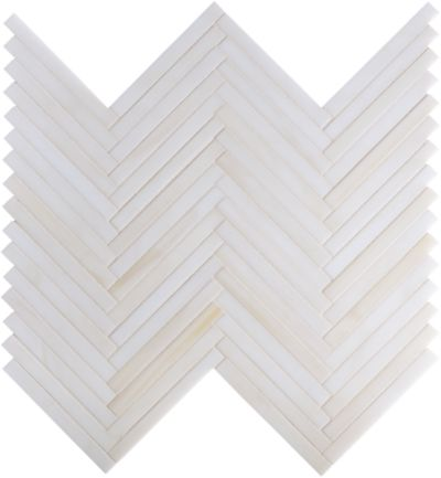 herringbone mosaic in cream
