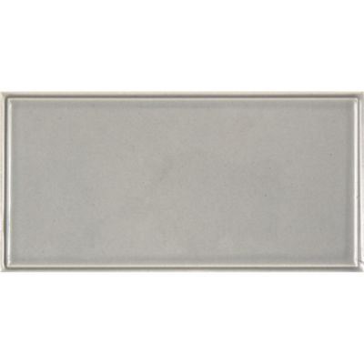 "3"" x 6"" embossed edge rectangle in pewter gloss"