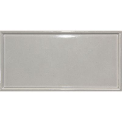 "3"" x 6"" raised edge rectangle in pewter gloss"