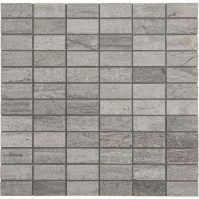 "1"" x 2"" straight set mosaic in honed finish"
