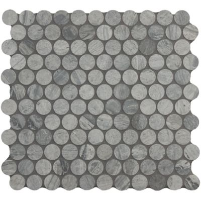 """1"""" penny round mosaic in honed finish"""