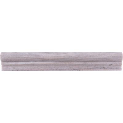 "Orizzonte 2"" x 12"" chair rail trim in brushed finish"