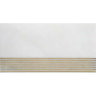 "6"" x 12"" horizontal in white/brass"