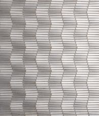 Rythme Piano Mosaic in Silver Gold