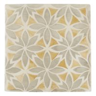 "Tiempo Azahar 4.625"" x 4.625"" field tile in Caramelo and Oxford"