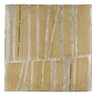 "Tiempo Baku 4.625"" x 4.625"" field tile in Caramelo and Charcoal on silver"