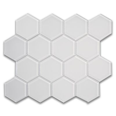"3"" hex mosaic in pure silk gloss"