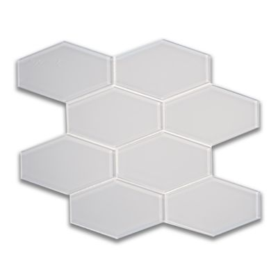 elongated hex mosaic in pure silk gloss