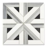 parquet mosaic in asher grey, dolomite, and black