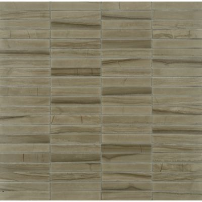 """1/2"""" x 3"""" stacked mosaic in honed finish"""