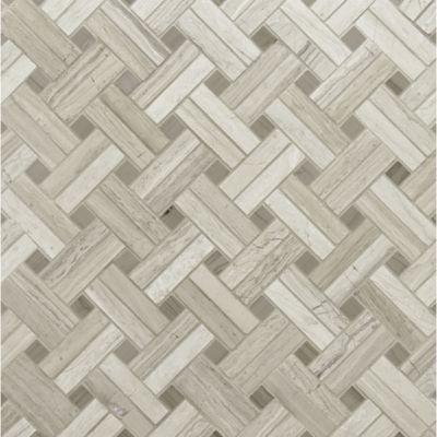 diagonal weave mosaic in honed finish