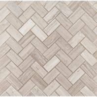 large herringbone mosaic in honed finish