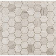 hexagon mosaic in honed finish