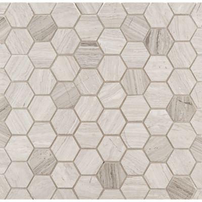 hexagon mosaic in honed finish