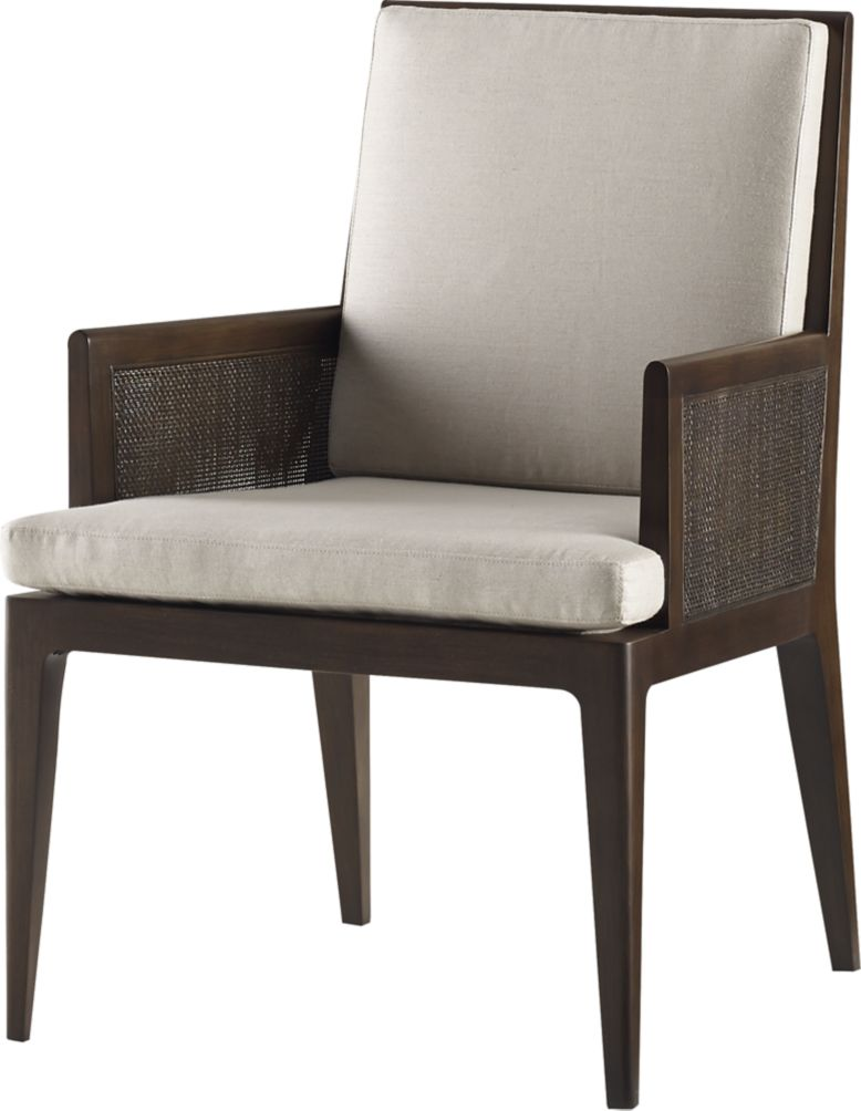Dining Arm Chairs Upholstered carmel cane dining arm chairbarbara barry - 3643 | baker furniture