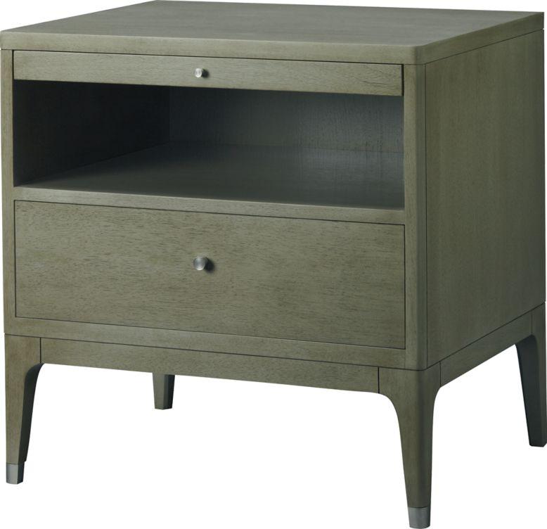 Modern Bedside Table modern moment bedside tablebarbara barry - 3611 | baker furniture