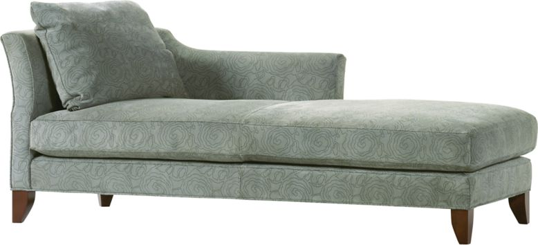 Left handed silver ornate chaise white faux leather for Chaise and a half lounge