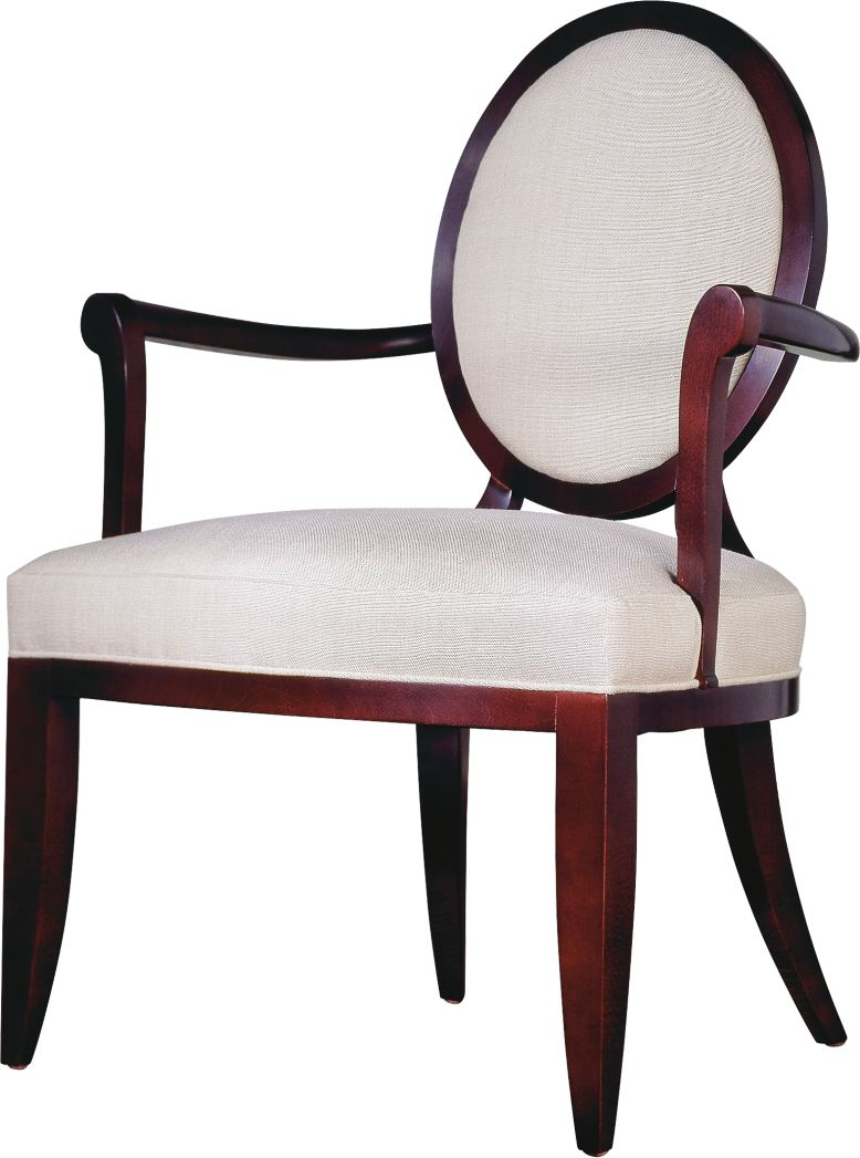 Oval X Back Dining Arm Chair By Barbara Barry 3441