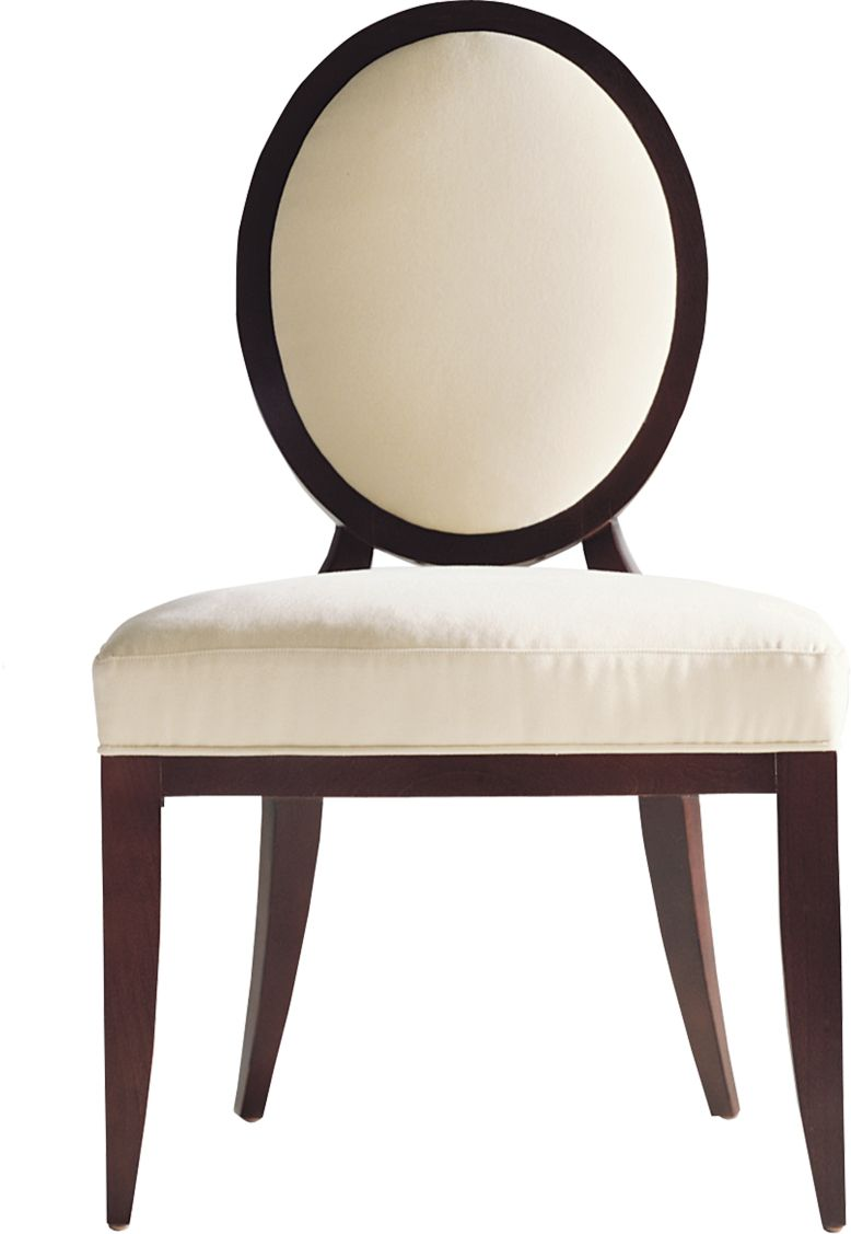 Oval X Back Dining Side Chair By Barbara Barry Baker
