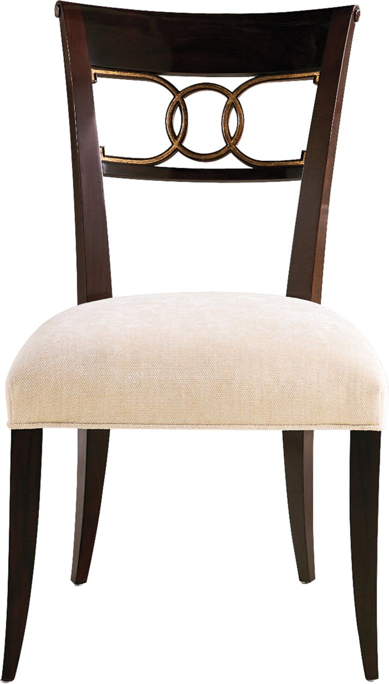 cleo dining chair side by thomas pheasant 7842 baker furniture