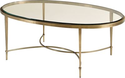Oval Coffee Table by Thomas Pheasant 7854 Baker Furniture