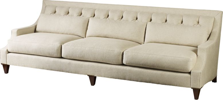 Max sofa tufted by thomas pheasant 6130s 1 baker for Baker furniture sectional sofa