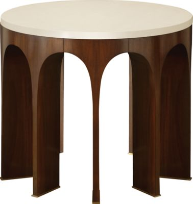 Arcade Center Table W/ Stone Top By Thomas Pheasant   8651 1   Baker  Furniture