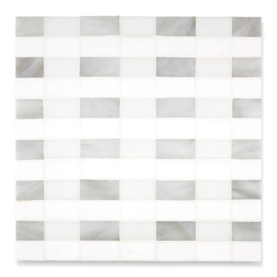 Aino mosaic in moonstone and alabaster in a sea glass finish