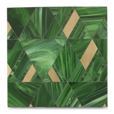 Argyle mosaic in bronze and cat's eye in a sea glass finish