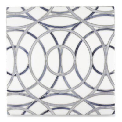 Charley mosaic in absolute white, pearl and zircon in a polished finish