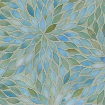 blossom mosaic in aquamarine