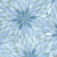blossom mosaic in mica, pewter, and covellite
