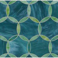 hex circle mosaic in tanzanite and chrysoberyl