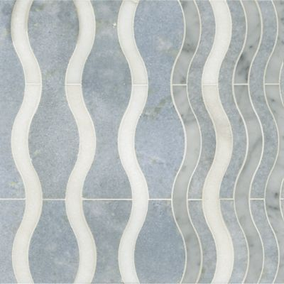 ava mosaic in thassos, celeste, and carrara