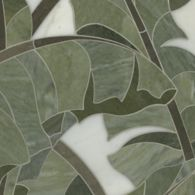 carmen mosaic in calacatta tia, montevideo, and verde luna