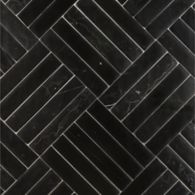 clark mosaic in nero marquina della mano in honed finish