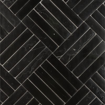 clark mosaic in negro marquina della mano in honed finish