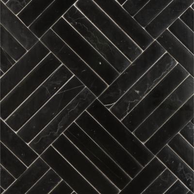 clark mosaic in nero marquina della mano in honed finish