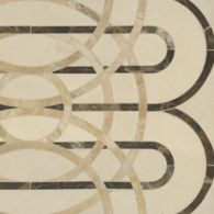 cooper mosaic in ivory cream, emperador dark, and breccia oniciata