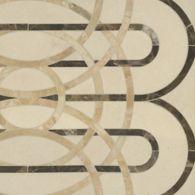 cooper mosaic in ivory cream, emperador dark, and breccia oniciata