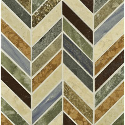 errol mosaic in jura green, rosa verona, jerusalem gold, blue macauba, red lake, verde luna, renaissance bronze, and travertine noce