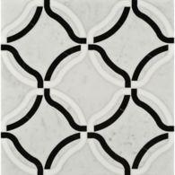 kelly mosaic in thassos, negro marquina, and carrara